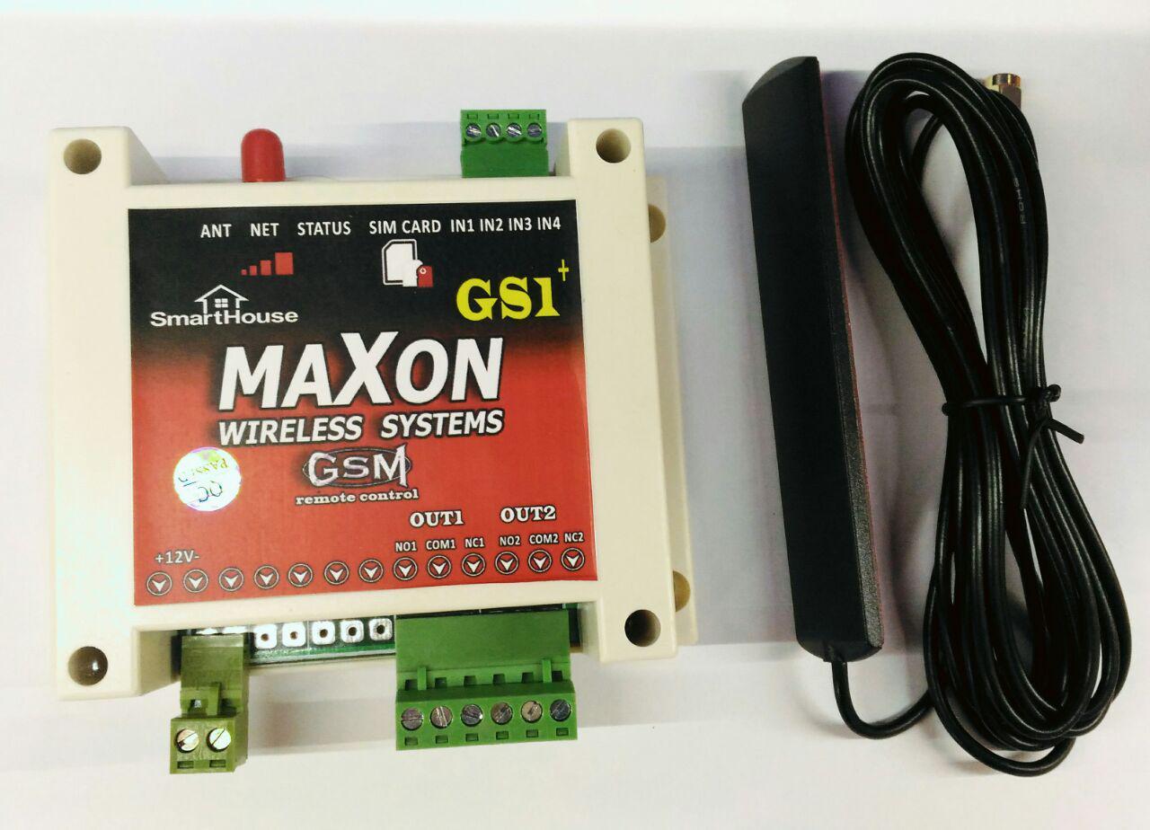 2 رله سیم کارتی maxon  همراه با تلفن کننده