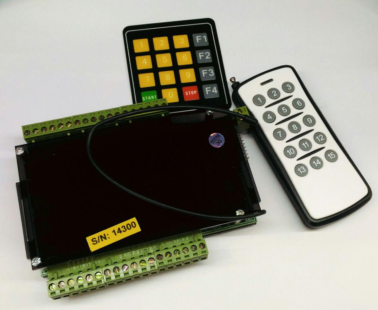 فرستنده و گیرنده 12 کاناله با کنترل دستی و ریموت